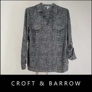 Croft & Barrow Woman Long Sleeve Blouse XL Nwt